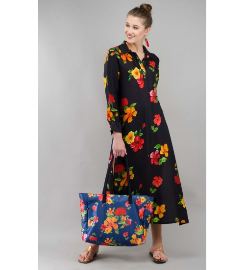 Hibiscus Modal Printed long tunic