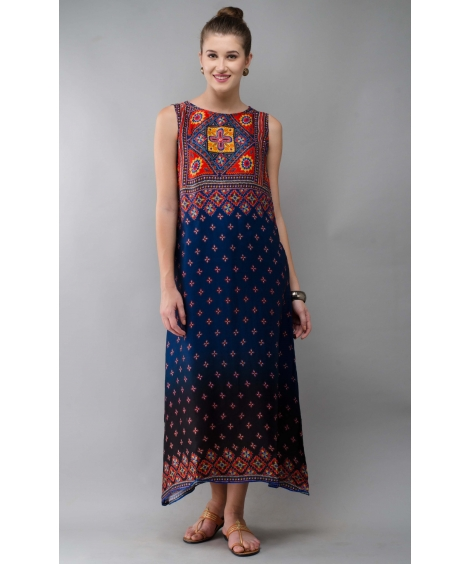 Printed Modal Classic Long dress