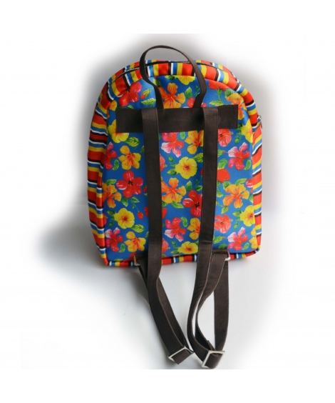 Hibiscus Printed Backpack