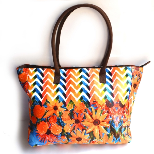 Sunflower Printed Bag