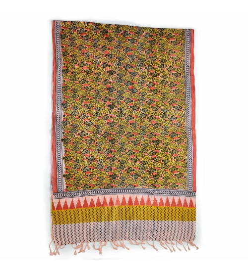 Colorful Hand Block Printed Cotton Stole 2