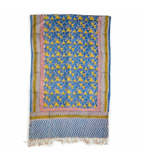 Colorful Hand Block Printed Cotton Stole 3