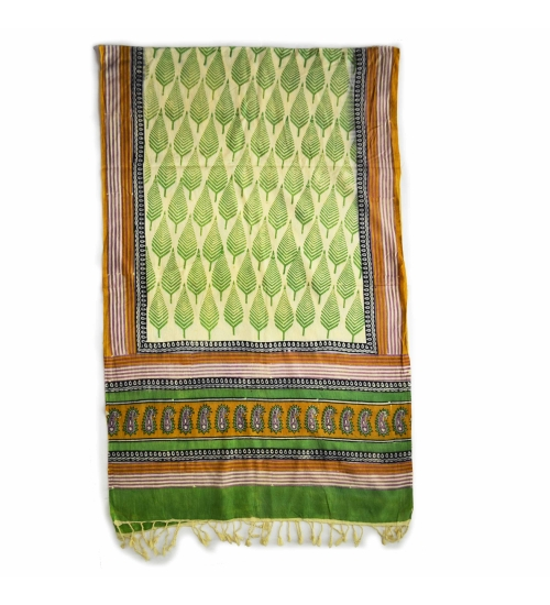 Colorful Hand Block Printed Cotton Stole 5