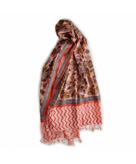 Colorful Hand Block Printed Cotton Stole 6