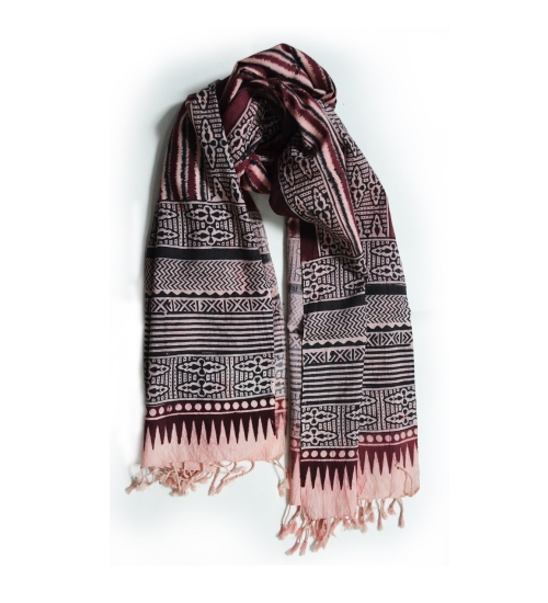 Colorful Hand Block Printed Cotton Stole 13