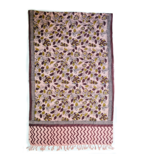 Colorful Hand Block Printed Cotton Stole 18