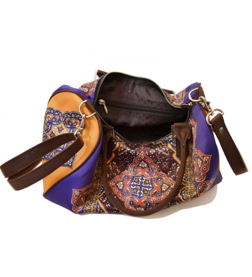 Rug Colorful Printed Poly-Satin Suede Women Duffle Bag