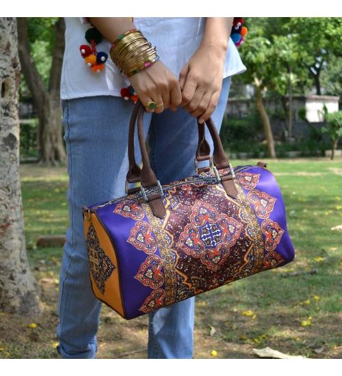 Rug Printed duffle bag