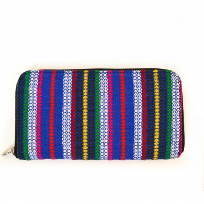 Diamond Stripe Colorful Handloom Woven Clutch