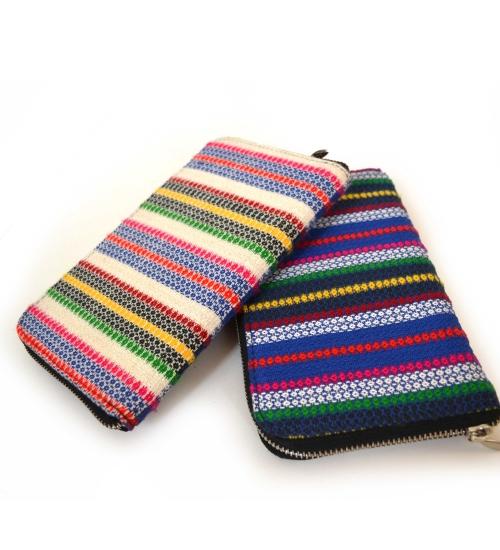 Diamond Stripe Colorful Handloom Woven Clutch