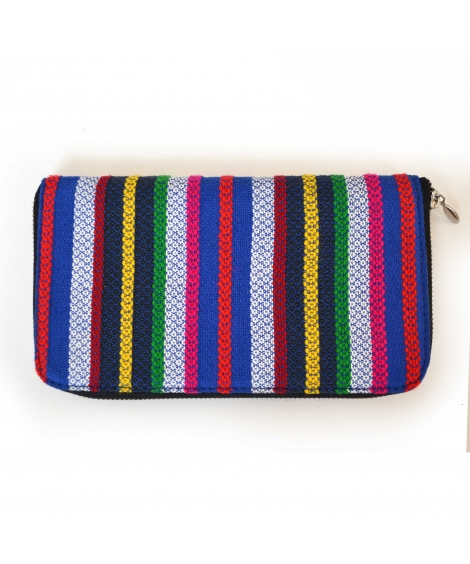 Multi Color Handloom Woven Clutch