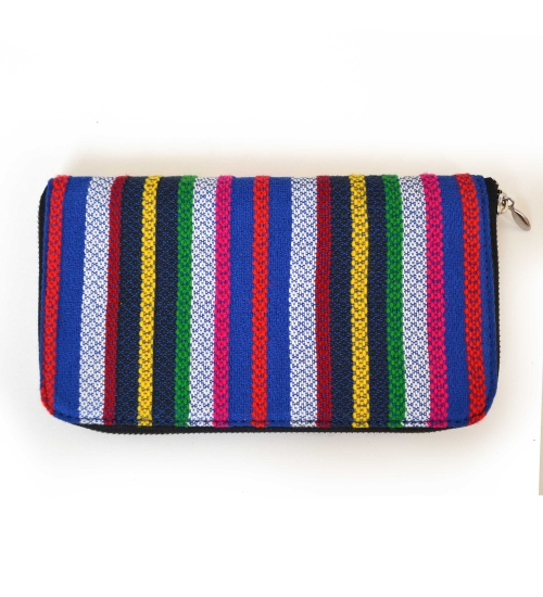 Multi Colorful Handloom Woven Clutch