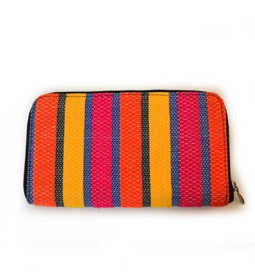 Bold Stripe Colorful Handloom Woven Clutch