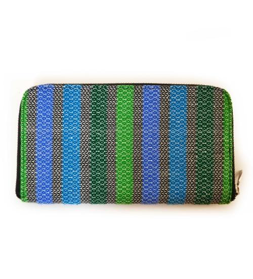 Green Colorful Handloom Woven Clutch