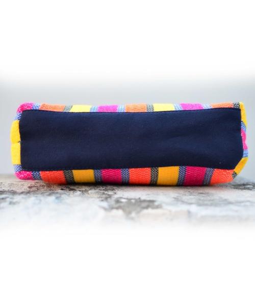 Bold Stripe Texture Handloom Woven Sling Bag