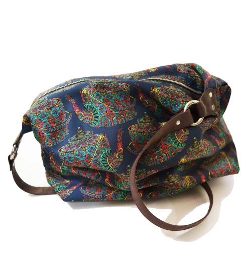 Kettle Colorful Printed Poly-Satin Suede Women Jhola Bag