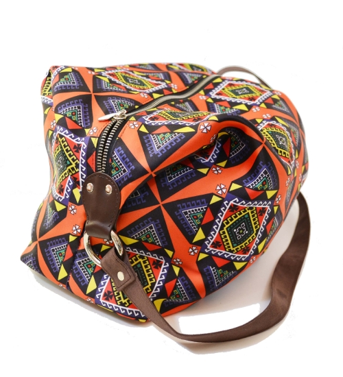 Kaleido Colorful Printed Poly-Satin Suede Women Jhola Bag