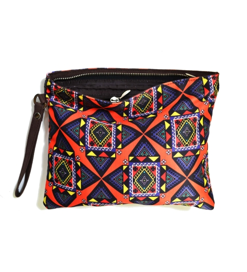Graphic 1 Colorful Printed Poly-Satin Women Pouch