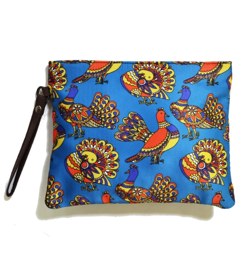 Pigeon 1 Colorful Printed Poly-Satin Women Pouch