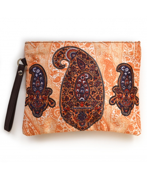 Paisley 1 Colorful Printed Poly-Satin Women Pouch