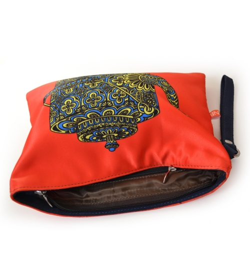 Kettle Colorful Printed Poly-Satin Women Pouch
