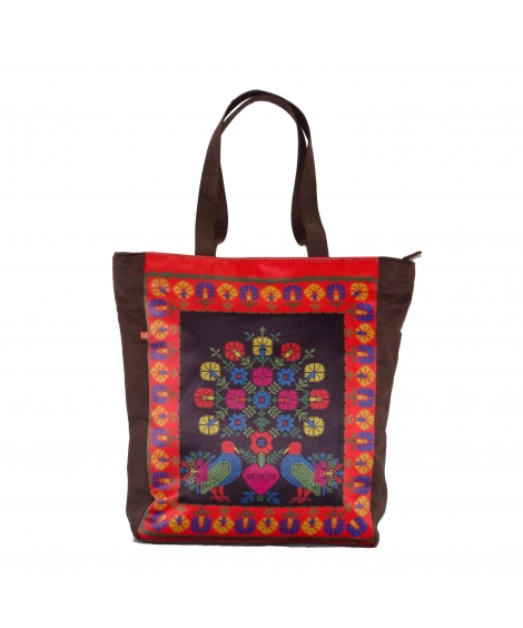 Cross Stitch Printed Tote