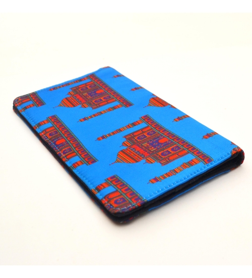 Blue Taj Mahal Colorful Printed Poly-Satin Suede Women Wallet