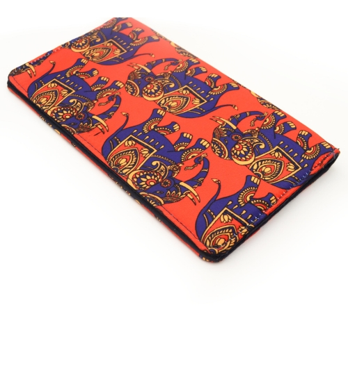 Indian Elephant Colorful Printed Poly-Satin Suede Women Wallet