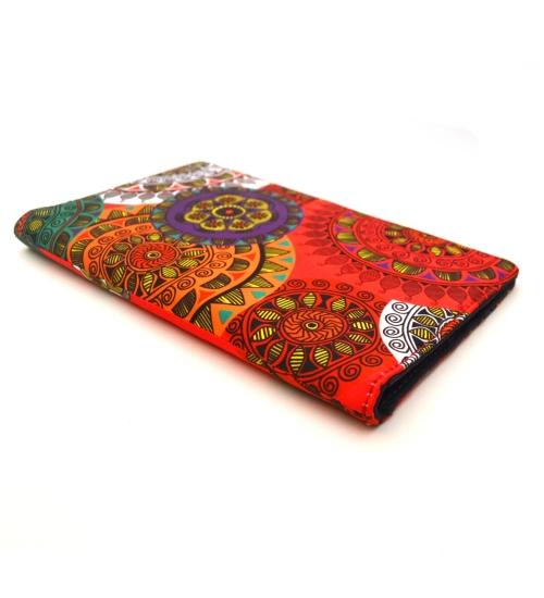 Pink Mandala Colorful Printed Poly-Satin Suede Women Wallet