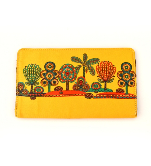 Yellow Tree Colorful Printed Poly-Satin Suede Women Wallet