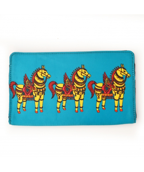 Horse Colorful Printed Poly-Satin Suede Women Wallet