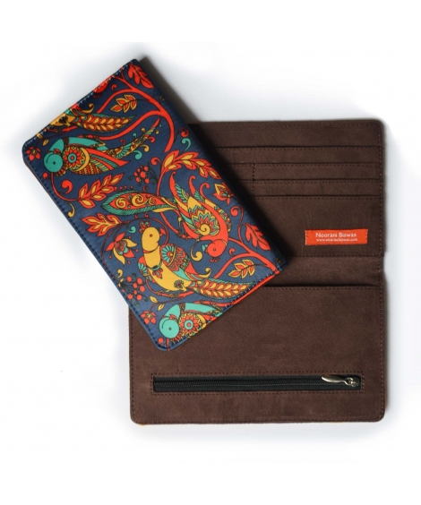 Blue Parrot Printed Wallet