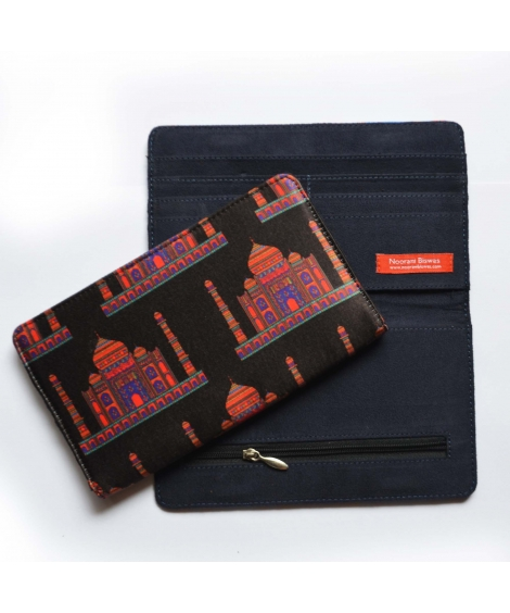 Black Taj Printed Wallet