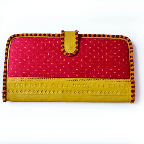 Red-Yellow Masroo Leather Wallet