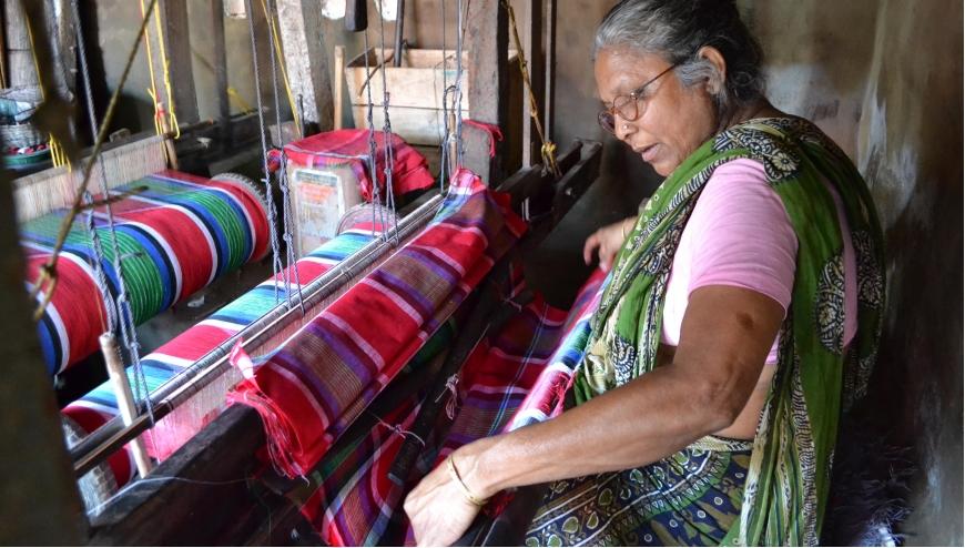Gamcha (Handloom woven textile)