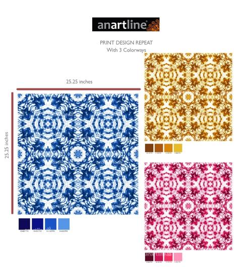 Tie & Dye Mandala Print