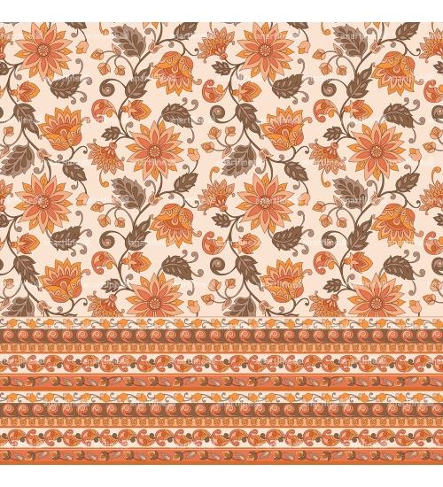 Boho Floral Print with Border