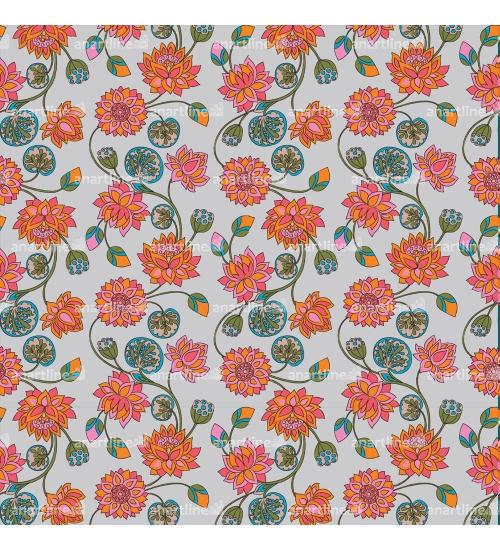 Lotus Jaal Print