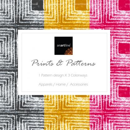Tie & Dye Square Print